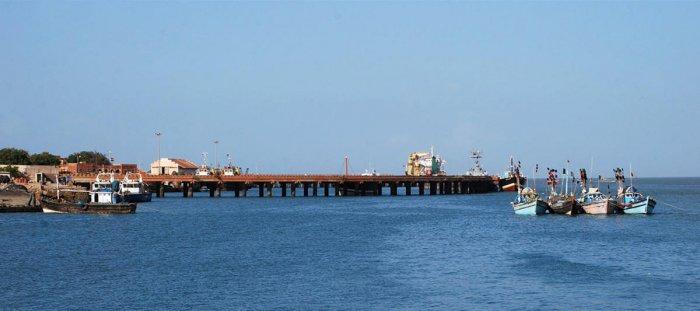 The port of Porbandar
