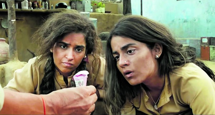 A scene from 'Pataakha'.