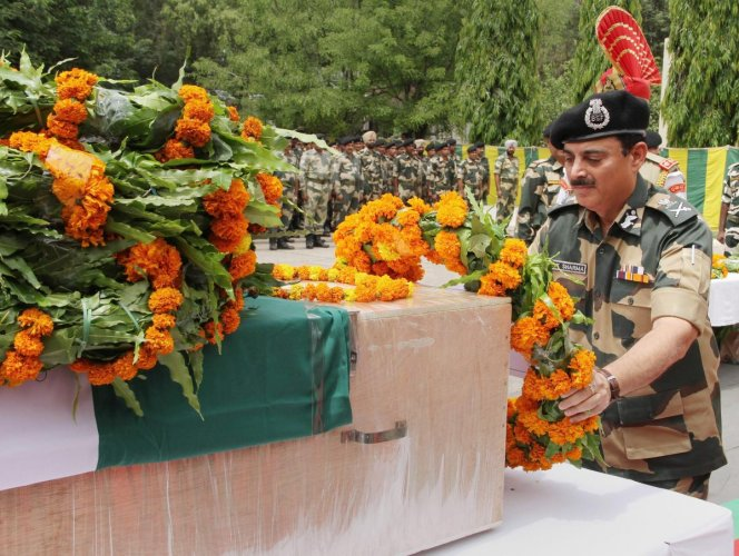 Outgoing BSF Director General (DG) K K Sharma told reporters that his troops were waiting for the right time to strike back against the enemy in retaliation to the recent killing of their jawan along the IB in the state.