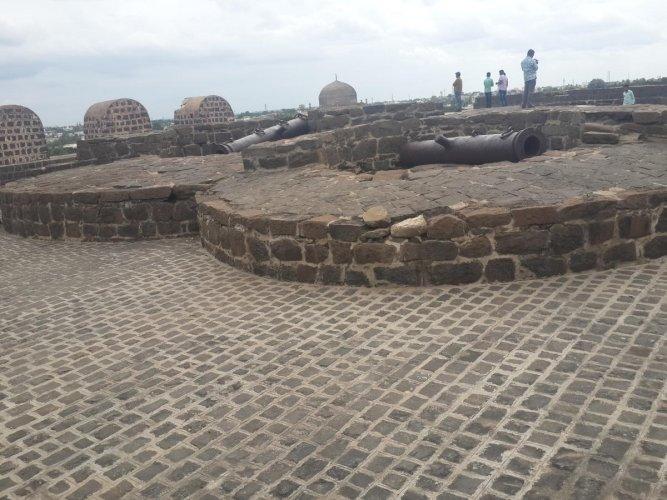 A view of majestic Gulbarga Fort