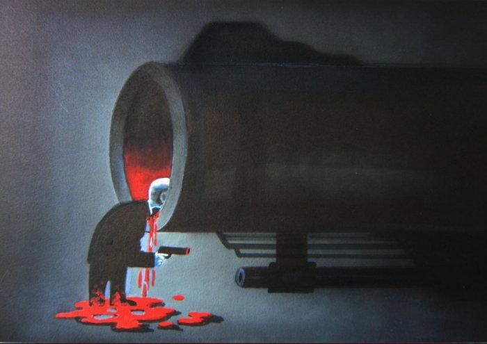 An arresting work by Chinese cartoonist Li Hai Feng