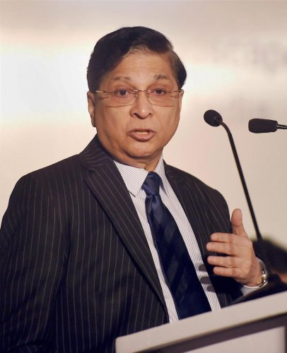 """The CJI was delivering the presidential address at a function organised by the International Law Association (ILA), where eminent jurist N R Madhava Menon delivered a lecture on """"Courts, Media and Fair Trial Guarantee"""". (PTI File Photo)"""