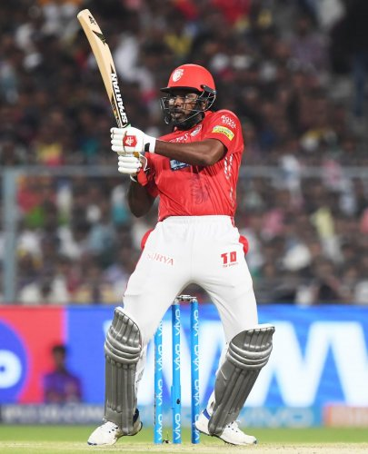 THE BOSS: Chris Gayle has been one of the stand-out performers in this season's IPL. AFP
