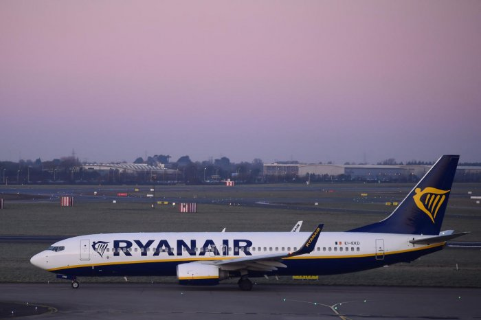 Ryanair aircraft seen at Dublin airport Dublin in Ireland on March 20, 2018. Reuters