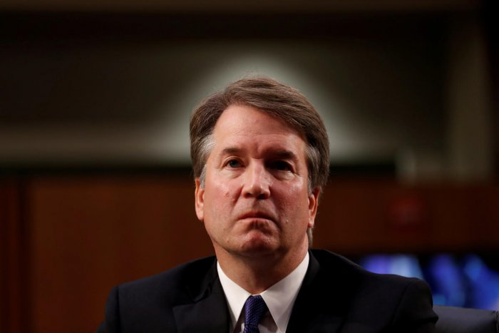 US Supreme Court nominee Judge Brett Kavanaugh listens during his Senate Judiciary Committee confirmation hearing on Capitol Hill in Washington on September 4, 2018. Reuters
