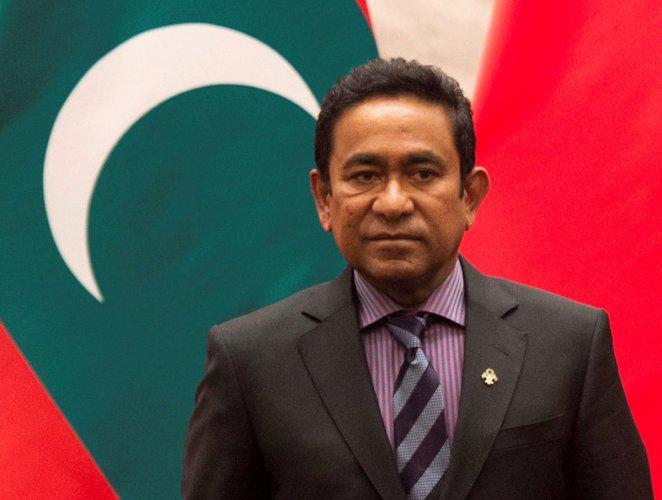 Maldives President Abdulla Yameen in Beijing on December 7, 2017. Reuters