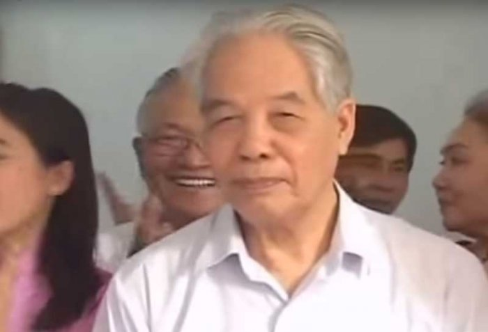 Former General Secretary of the Communist Party of Vietnam Do Muoi. Screengrab.