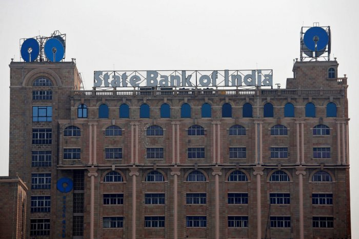 The State Bank of India (SBI) office building is pictured in Kolkata, India. REUTERS