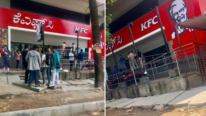 The Basavanagudi outlet of KFC store shut by Police
