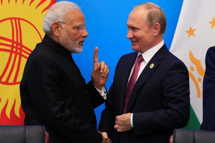 India's Prime Minister Narendra Modi and Russia's President Vladimir Putin. (REUTERS File Photo)