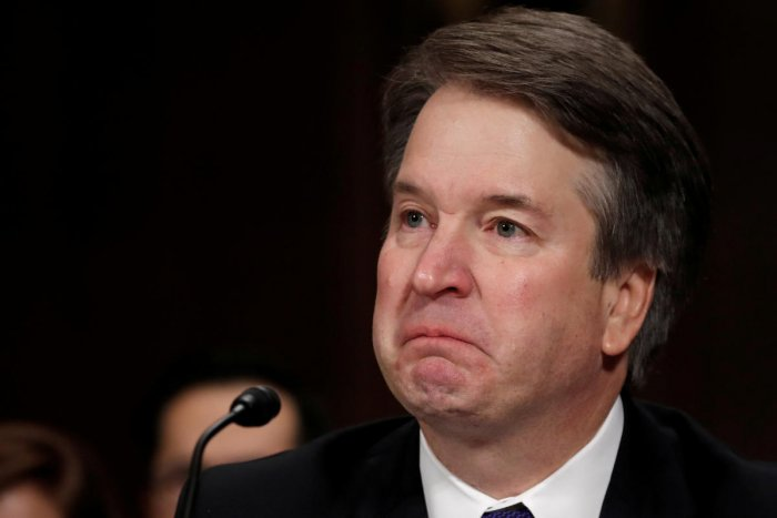 U.S. Supreme Court nominee Brett Kavanaugh becomes emotional as he testifies before a Senate Judiciary Committee confirmation hearing for Kavanaugh on Capitol Hill in Washington, U.S., September 27, 2018. (Reuters File Photo)