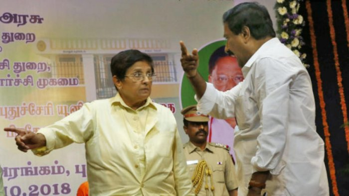 """Puducherry AIADMK legislator A Anbalagan on Wednesday submitted a privilege motion against Lt Governor Kiran Bedi for """"insulting him"""" at a public event"""
