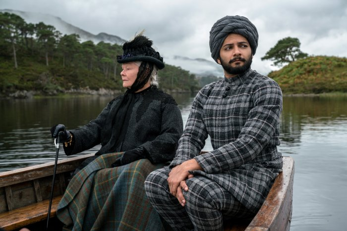 A scene from 'Victoria & Abdul' starring Ali Fazal and Judi Dench.