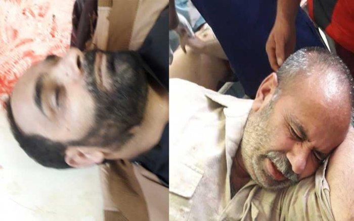 Photos of NC workers killed in Srinagar. The victims were identified as Mushtaq Wani and Nazir Ahmad. (Via Zulfikar Majid)