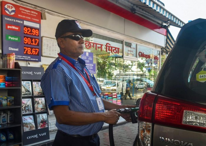 Petrol prices have risen by Rs 13.88 per litre in the past nine months of this year and diesel by Rs 15.55 a litre in Delhi, where the prices of the two fuels are cheapest among metros. (PTI File Photo)