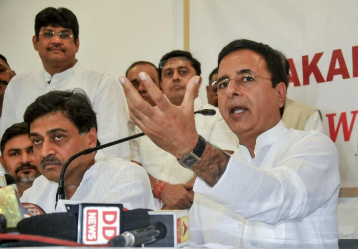 "Senior Congress leader Randeep Singh Surjewala Saturday accused Prime Minister Narendra Modi of ""putting pressure"" on the Election Commission (EC) to delay its press conference to announce poll dates in five states as he was scheduled to address a rally i"