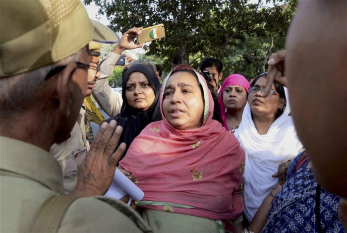 Missing JNU student Najeeb's mother. (PTI File Photo)