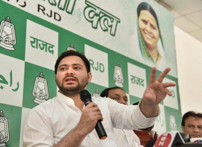 Rashtriya Janata Dal leader Tejashwi Yadav
