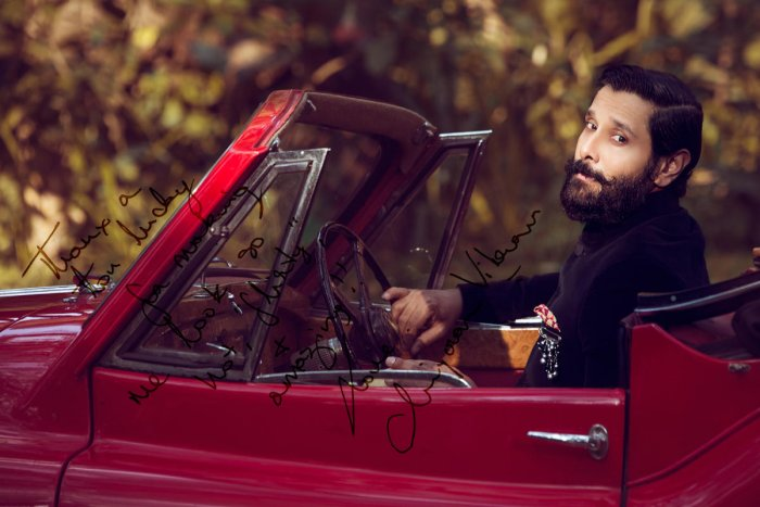 A photo of actor Vikram clicked by Lucky Malhotra.