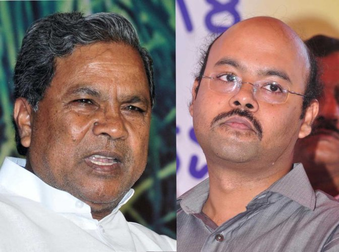 Chief Minister Siddaramaiah and Dr Yathindra
