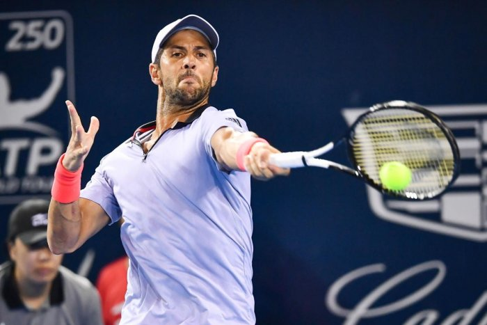 CREATING A FURORE: Fernando Verdasco's treatment of a ball boy at last month's Shenzhen Open has drawn plenty of ire from tennis fans across the world. AFP