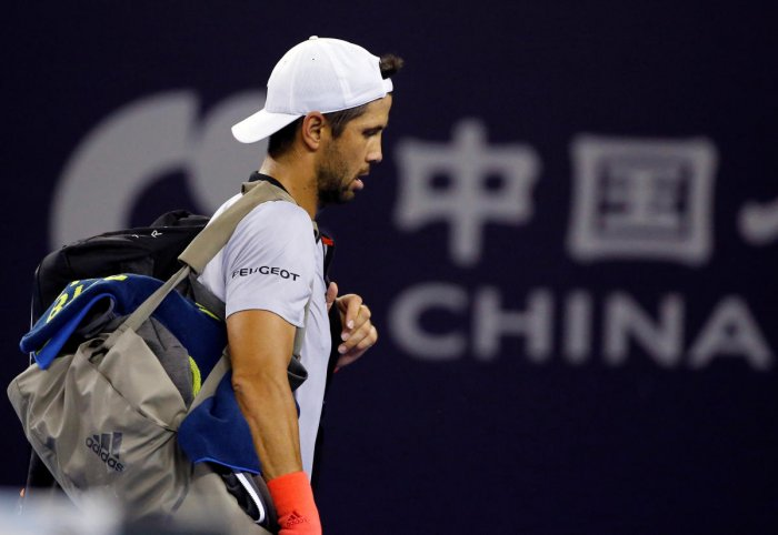 Fernando Verdasco of Spain after his defeat to Nikoloz Basilashvili of Georgia. (REUTERS File Photo)