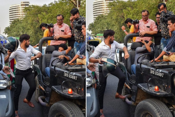 An incident of road rage in New Delhi. PTI/FILE