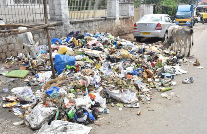 Stink place: The BBMP will set up 50 with one station for every two wards, where it will place containers to collect garbage. DH file photo