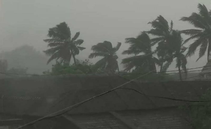 Surface wind reached speeds of 126 kmph at Gopalpur. ANI photo