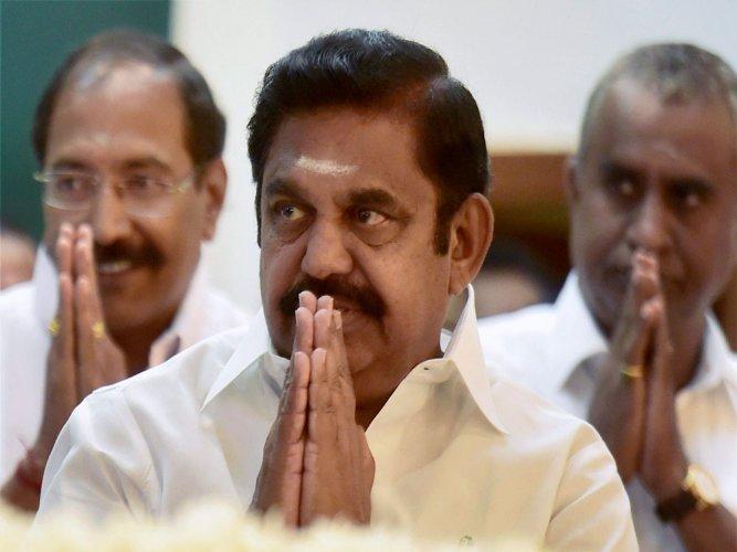 Tamil Nadu Chief Minister Edappadi K Palaniswami. (PTI file photo)