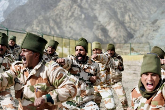 Indo-Tibetan Border Police (ITBP) jawans during a drill. (PTI File Photo for representation)