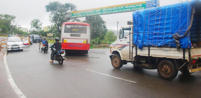 The movement of heavy vehicles has been banned on NH 275.