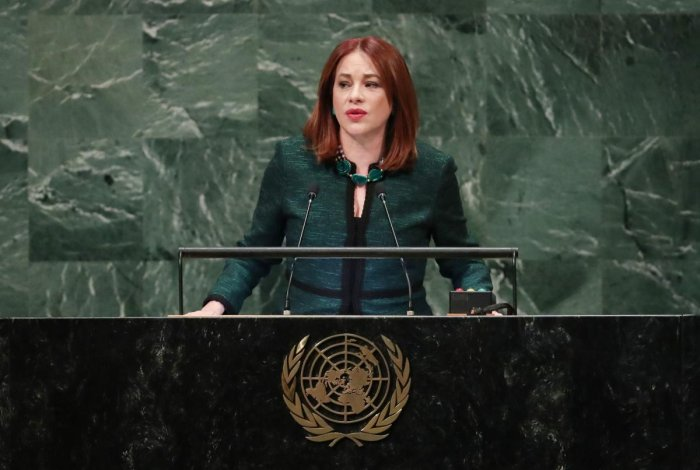 President of the UN General Assembly Maria Fernanda Espinosa. (Reuters file photo)