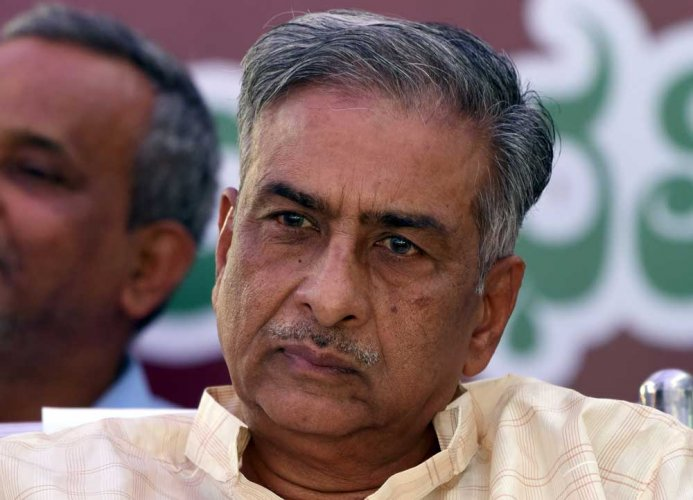Basavaraj Horatti said that he had no choice but to toe the party line as both JD(S) supremo H D Deve Gowda and Chief Minister H D Kumaraswamy had requested him to take up the responsibility.