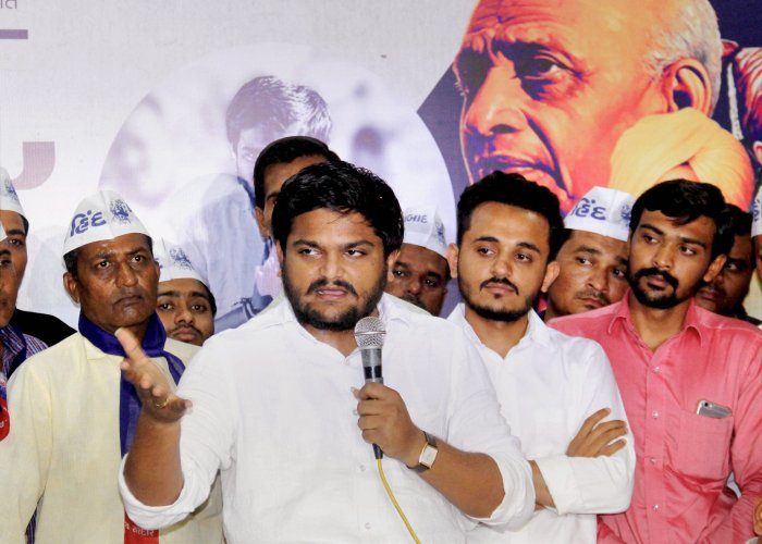 Hardik patel, in a video statement, levied allegations that these videos were the proof of the BJP government having offered money to break the agitation and defame him. PTI file photo