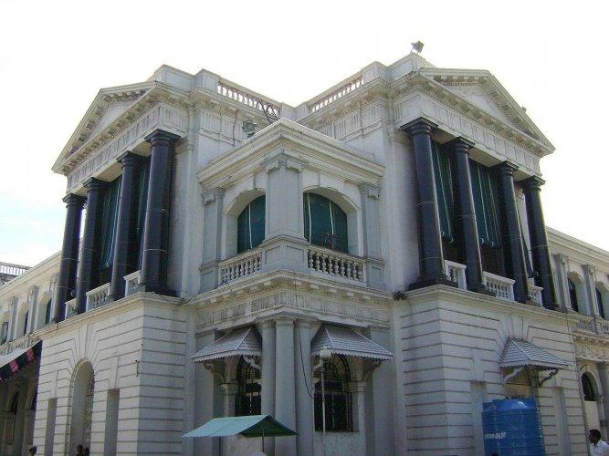 A view of the Tamil Nadu Legislature at Fort St George, Chennai.