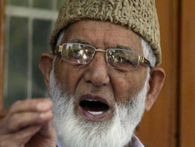 Syed Ali Geelani. AP/PTI
