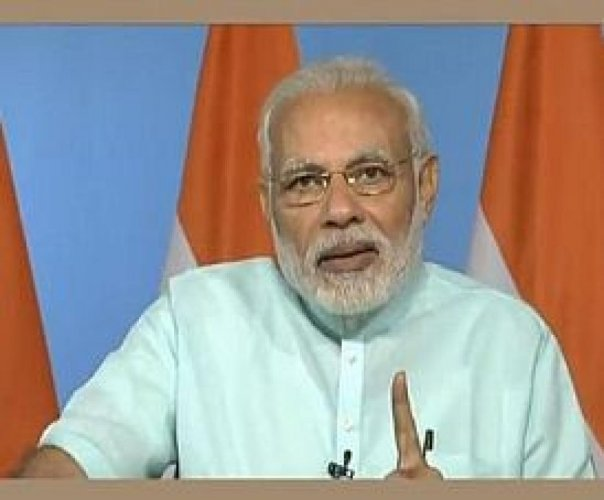 Interacting with farmers from over 600 districts via video conferencing, Modi said the four cornerstones of the government policy for raising farm income are cutting input cost, fair price for the crop, preventing the produce from rotting and creating alt