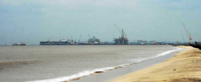 A view of the Kakinada Port.