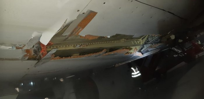 A day after all 136 people on board the Air India Express plane had a miraculous escape, airport officials on Saturday said airport staff, including CISF personnel, who informed the ATC about the accident, are being questioned. (DH Photo)