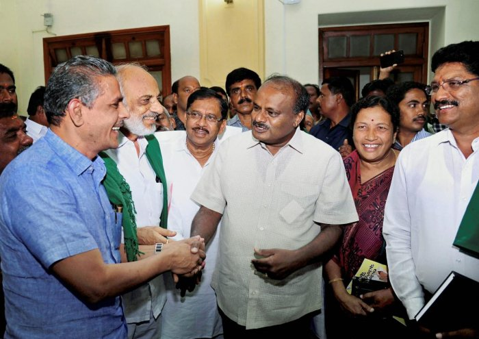 "Kumaraswamy said there were large landholding farmers who had borrowed loans exceeding Rs 40 lakh. ""As it was felt that it was not right to waive higher value crop loan, I have decided to limit the loan amount to Rs 2 lakh,"" he said. DH file photo"