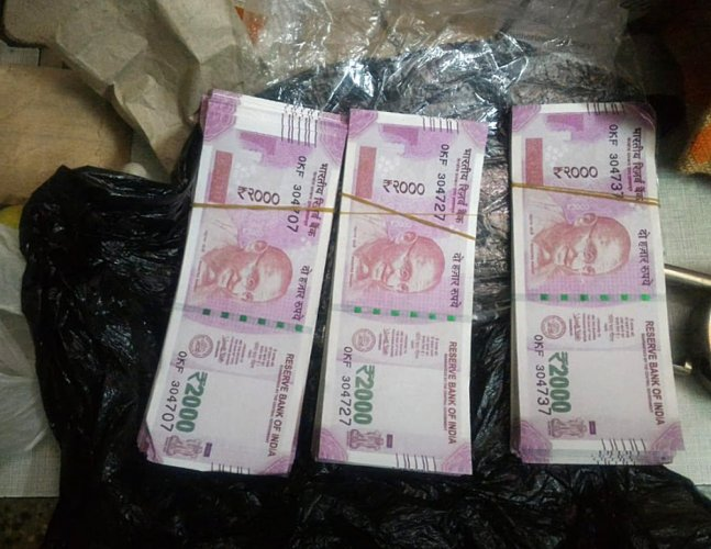 The suspects had 217 notes of Rs 2,000 denomination, valued at Rs 4.34 lakh, said an NIA release.