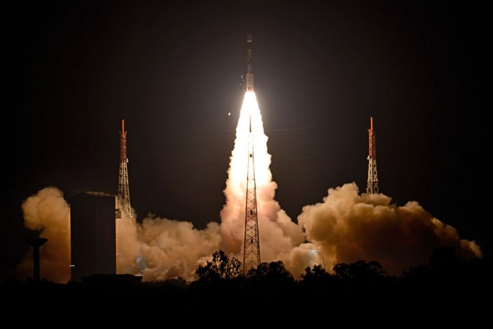 It will take about 16 minutes for Indian astronauts to reach the space where they would spend nearly a week carrying out scientific experiments, before returning to earth in their crew module that would splash down in the Arabian Sea. File photo