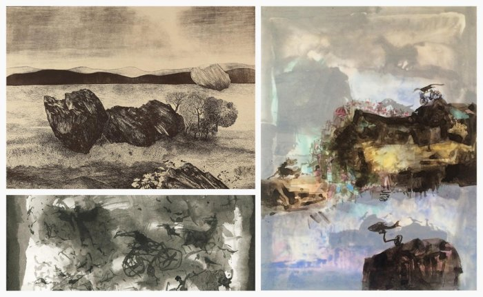 REAL AND IMAGINARY Prints and Watercolours by Devraj Dakoj