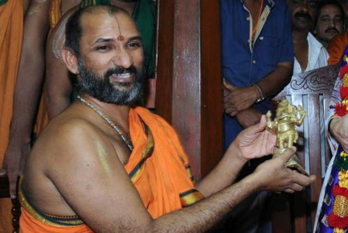 The seer was fasting from Saturday, following the denial of water to the mutt from Kannadihole--a stream flowing in the forest near Subrahmanya.