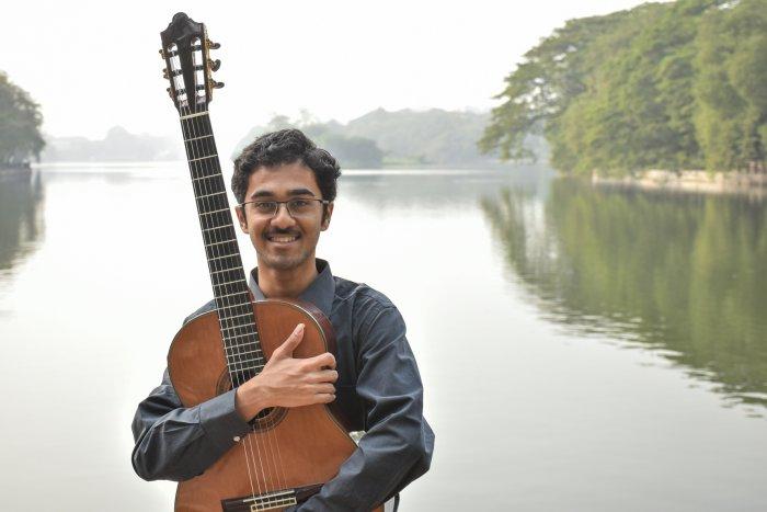 Kabir Dabholkar plays Western classical music on the guitar.