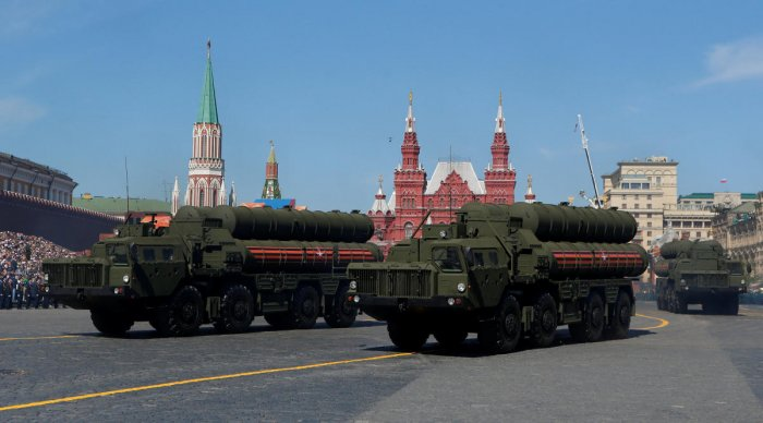 Russian servicemen drive S-400 missile air defence systems during the Victory Day parade at Red Square in Moscow, Russia. REUTERS File Photo