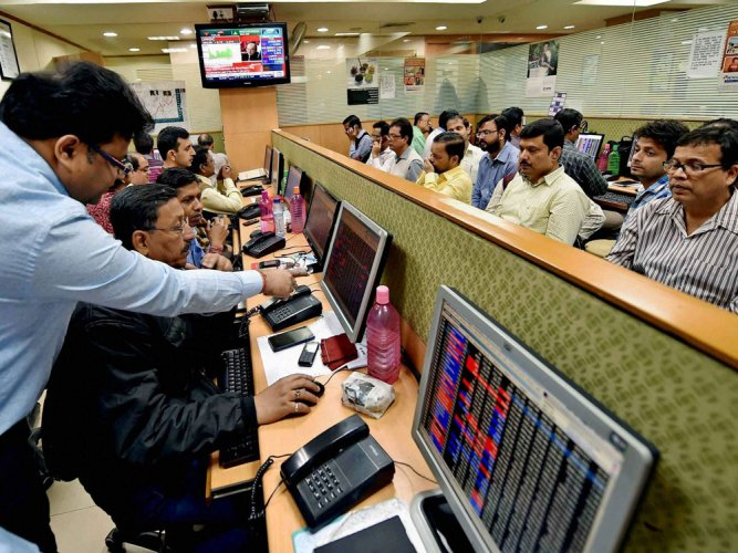 The 30-share Sensex stayed in the positive zone during the Tuesday session and settled 297.38 points higher at 35,162.48.