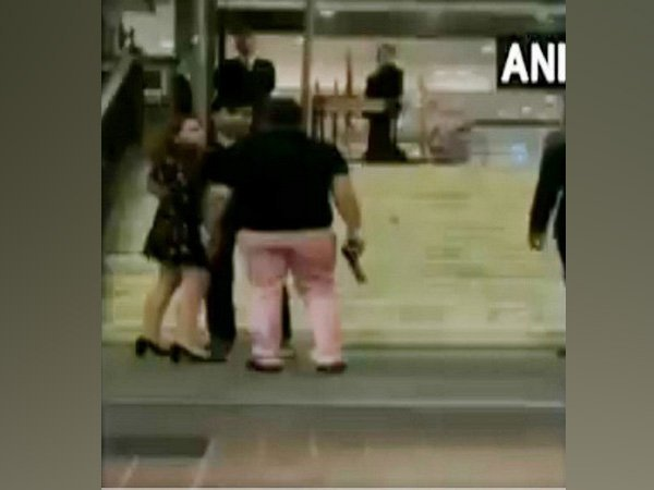 A video of the incident that occurred early on Sunday went viral on social media resulting in a massive public outrage prompting the police to step in and launch a hunt for the accused Ashish Pandey who has since been missing. (Image courtesy ANI/Twitter)