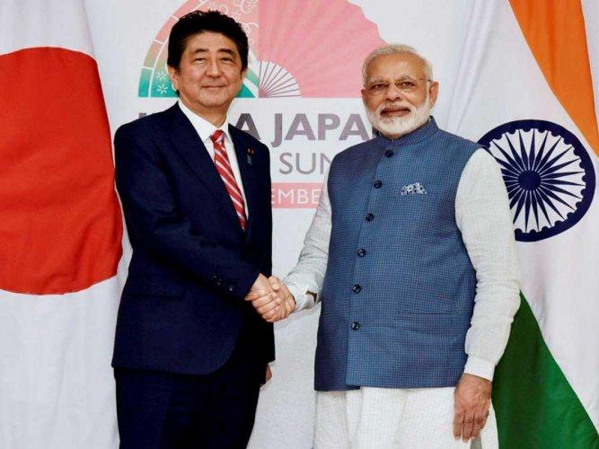 Shinzo Abe and Narendra Modi